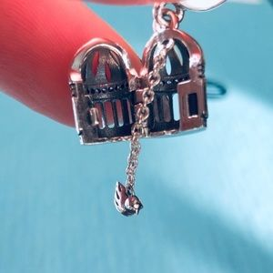 Pandora Free As A Bird Birdcage Charm